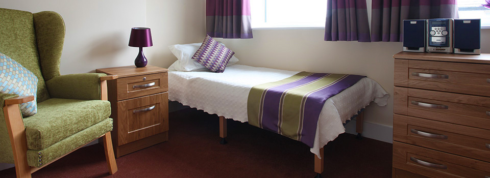 Care home bedroom.